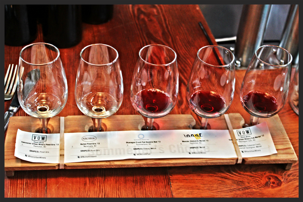 Wine Flight from Vancouver Urban Winery  | Foodable WebTV Network