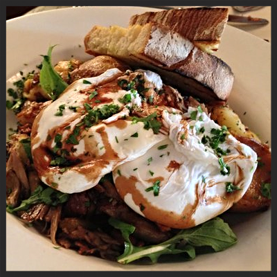 Duck confit hash at AOC  | YELP, Jay B.