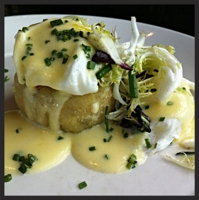 Dungeness crab cake benedict at Epic Roasthouse  | YELP, Jen W.