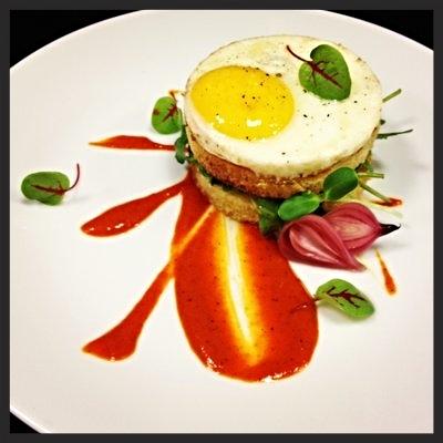 Farm Egg, Bacon Jam, Arugula, Brioche at Market 17 | YELP, Lo D.