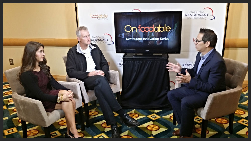 Paul Barron speaks to industry Experts Caleb Mitsvotai and Lara Nicotra at the 2014 Restaurant Innovation Summit  | Foodable WebTV Network