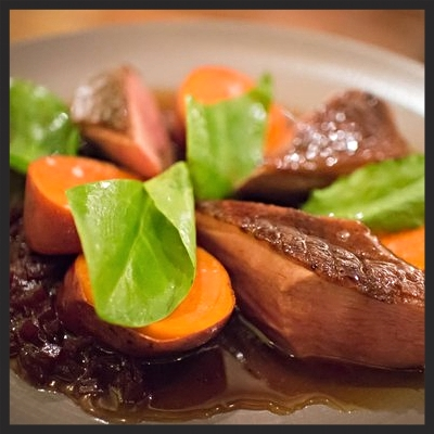 Seared duck breast at Serpico | YELP, Melissa P.