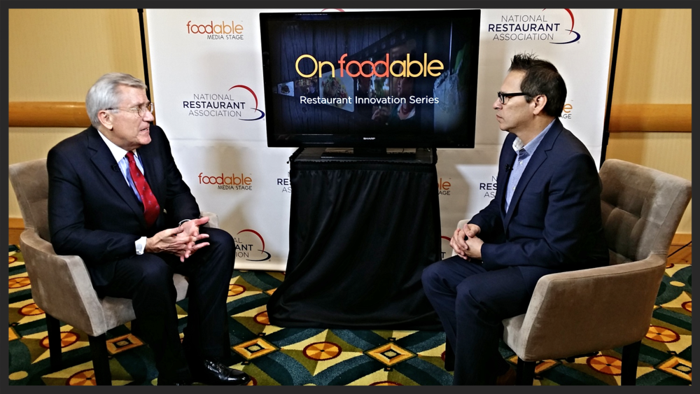 Paul Barron speaks to industry Expert Hudson Riehle at the 2014 Restaurant Innovation Summit  | Foodable WebTV Network