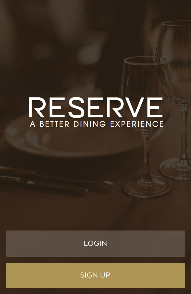 Screen shot of Reserve, reservation app