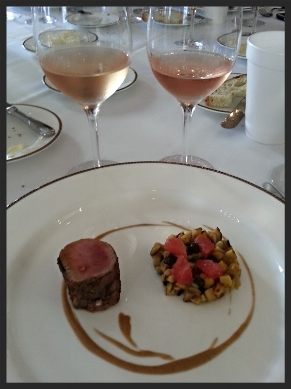 Ember Roasted Pork with Chestnuts, Grapefruit and Truffle with Rosé| Foodable WebTV Network
