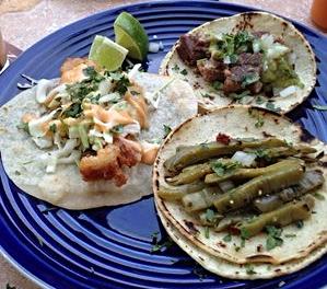 Nopales, pescado & carnitas at Del Fuego  | YELP, LILY Z.