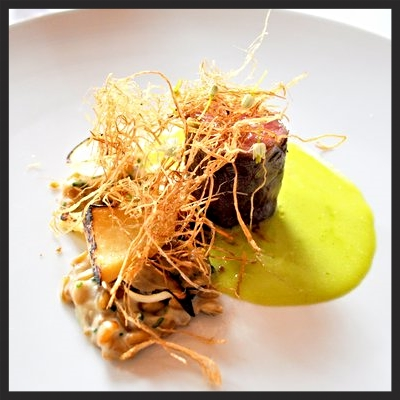 Lamb roasted with artichokes, Freekeh and spring onion hay at Eleven Madison Park  | Yelp, Capt K.