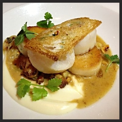 Scallops from Marc Forgione  | YELP, Rose. W