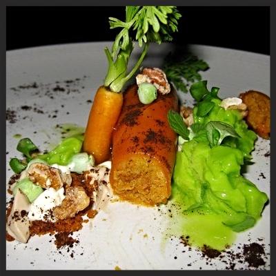 Carrot cake from Atelier Crenn  | YELP, Steph L.