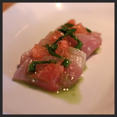 Hamachi, ruby grapefruit, & jalapeño at Vernick Food & Drink  | YELP, Michelle L.