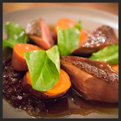 Seared duck breast at Serpico | YELP, Elva L.