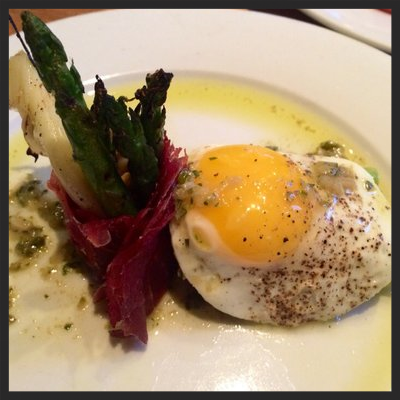 Asparagus and Egg at Euclid Hall Bar & Kitchen | YELP, Jason G.