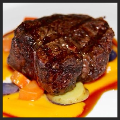 Stunning fillet mignon with carrot purée at Canlis  | YELP, Latifa S.