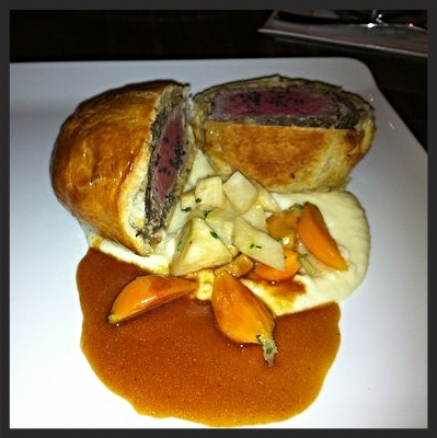 Roasted Beef Wellington at Gordon Ramsey Steak  | YELP, Clint B.