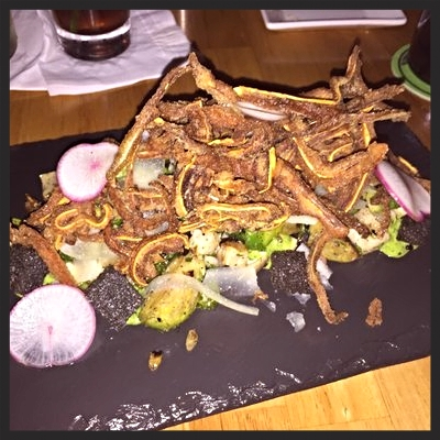 Crispy Pig Ear Salad at Root  | YELP, Cristy C.