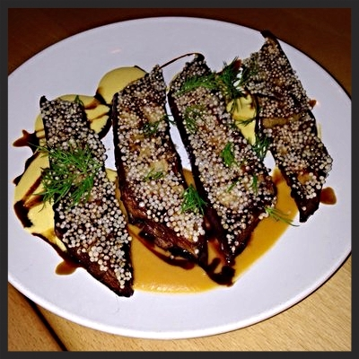 Japanese eggplant at Aviary | YELP, Jason B.