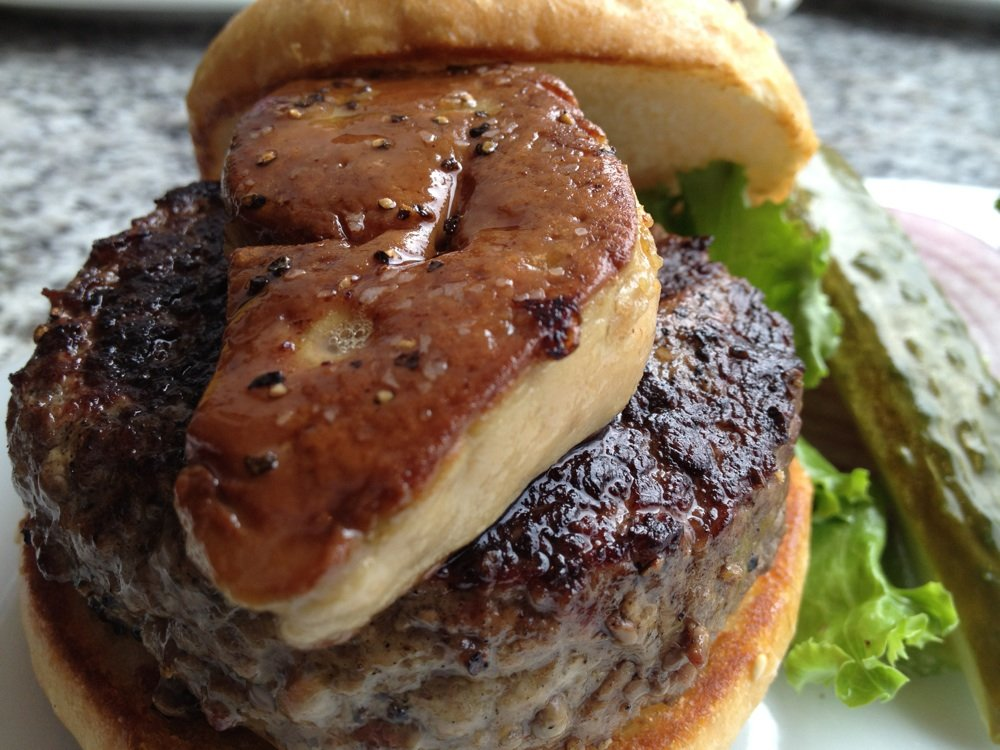 Kobe Beef Burger with foie gras at SF Burger Bar  | YELP, Minh H.