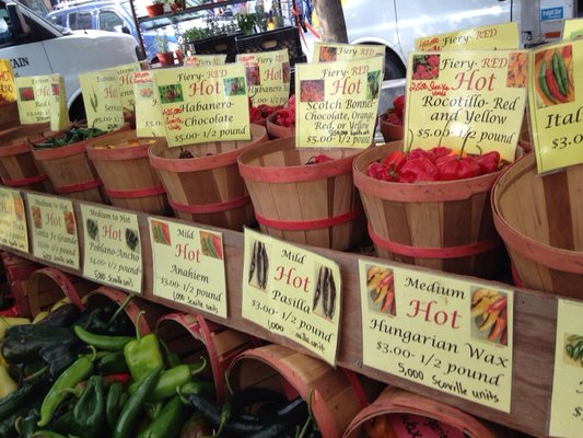 Pepper selection at Union Square Greenmarket  | YELP, Jennifer Z.