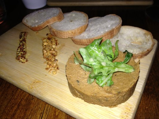 Wood grilled sweet potato plate with grain mustard, jerk cashews, and toast at Vedge  | YELP, Vincent L.