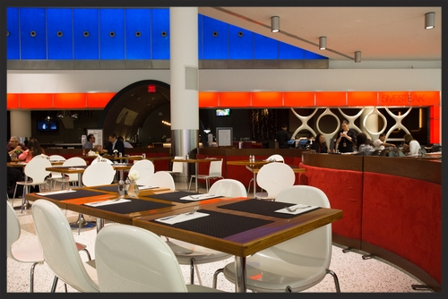 Dining area at Jet Blue Terminal 5 at JFK in NYC