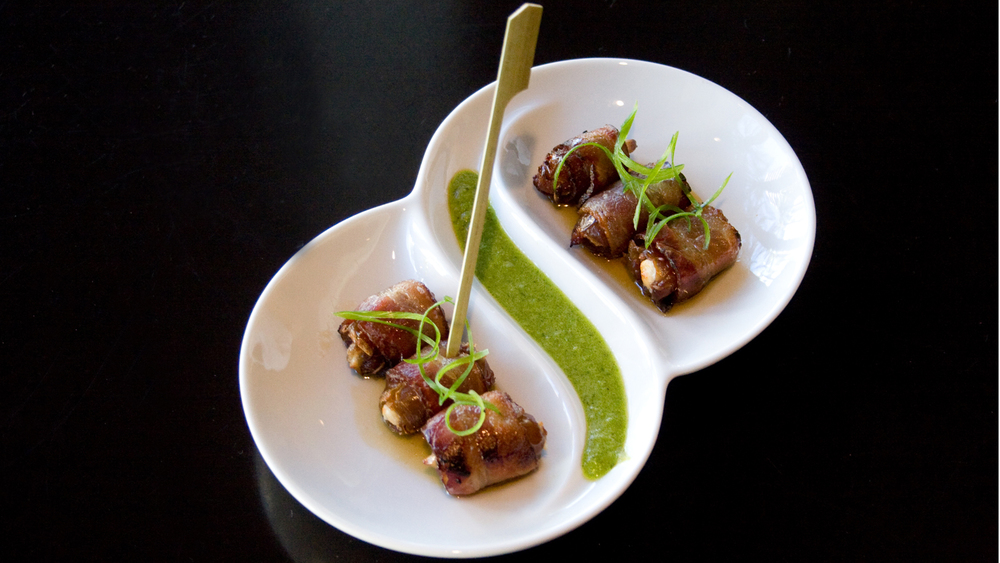 Bacon Wrapped Dates at District American Kitchen & Wine Bar  | districtrestaurant.com