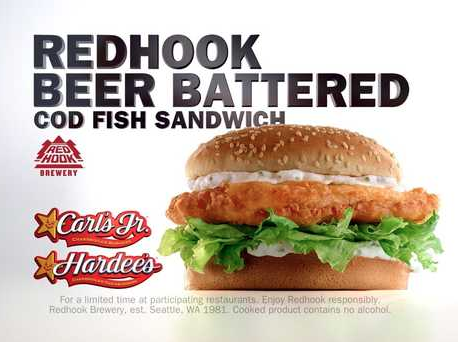 SCREENSHOT OF NEW REDHOOK BEER BATTERED CODFISH SANDWICH | CKERESTAURANTS.COM
