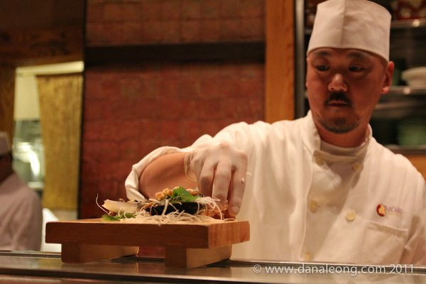 CHEF AT NOBU PREPARING THE MIRUGAI SPECIAL  | YELP, DANA L.