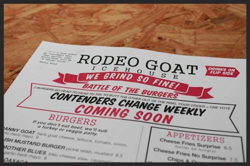 Rodeo Goat Menu | Foodable WebTV Network