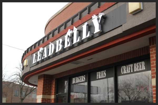 Store front of Leadbelly  | Foodable Network