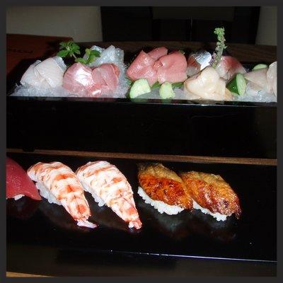 Sashimi Tasting Platter at barMASA | YELP, Jenny W.