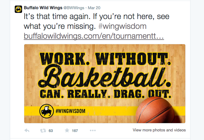 Recent #wingwisdom Tweet by BWW  | @BWWINGS