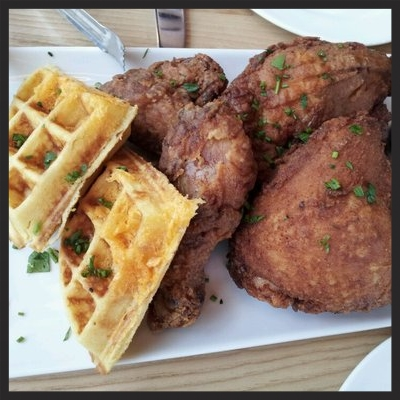 CHICKEN AND WAFFLES AT YARDBIRD | YELP, LILY T.