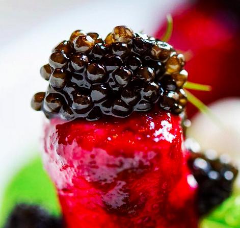 Caviar Beet dumpling | Credit:Liquid Art House