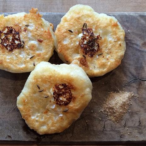 Sourdough, sauerkraut, pecorino & ricotta pancakes | Credit: State Bird Provisions
