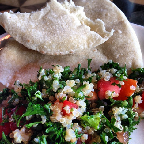 Homemade pita & couscous at Mamnoon | Credit: Lulipop4/Instagram