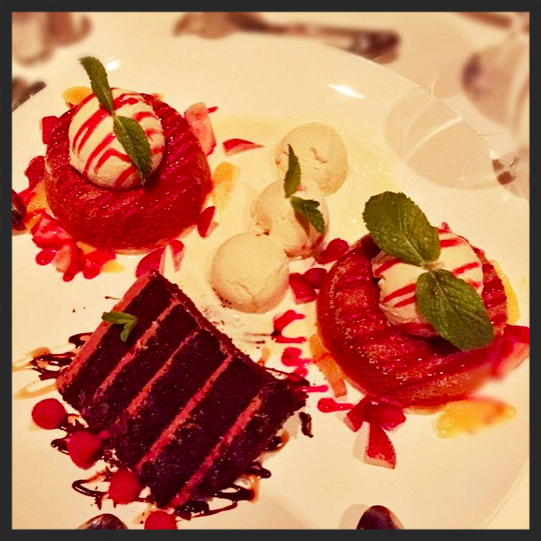 Dessert from Mastro's Steakhouse  | IG @lostonthebeach
