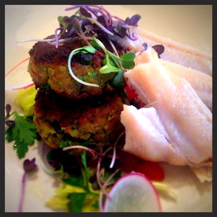 Smoked trout & pea cakes from Southern Rail  | Yelp, J N.