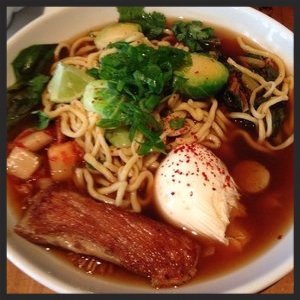 Hangover Breakfast from The Bristol: noodles, pork broth, aromatic vegetables  | Yelp, Stefanie A.