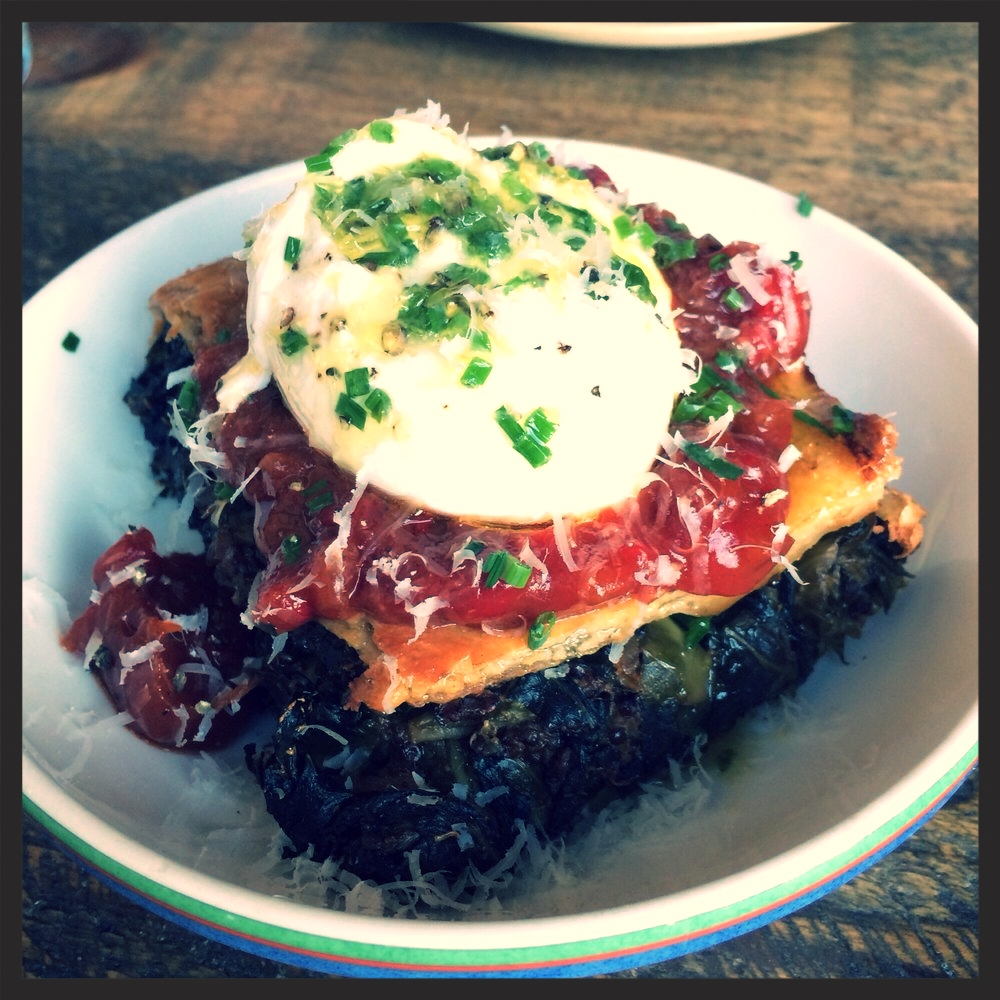 Collard Green Pie at La Brasa  | Yelp, Aaron K.