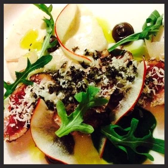 Iberico Pork Carpaccio at Le Pigeon | Yelp, Cathy C.
