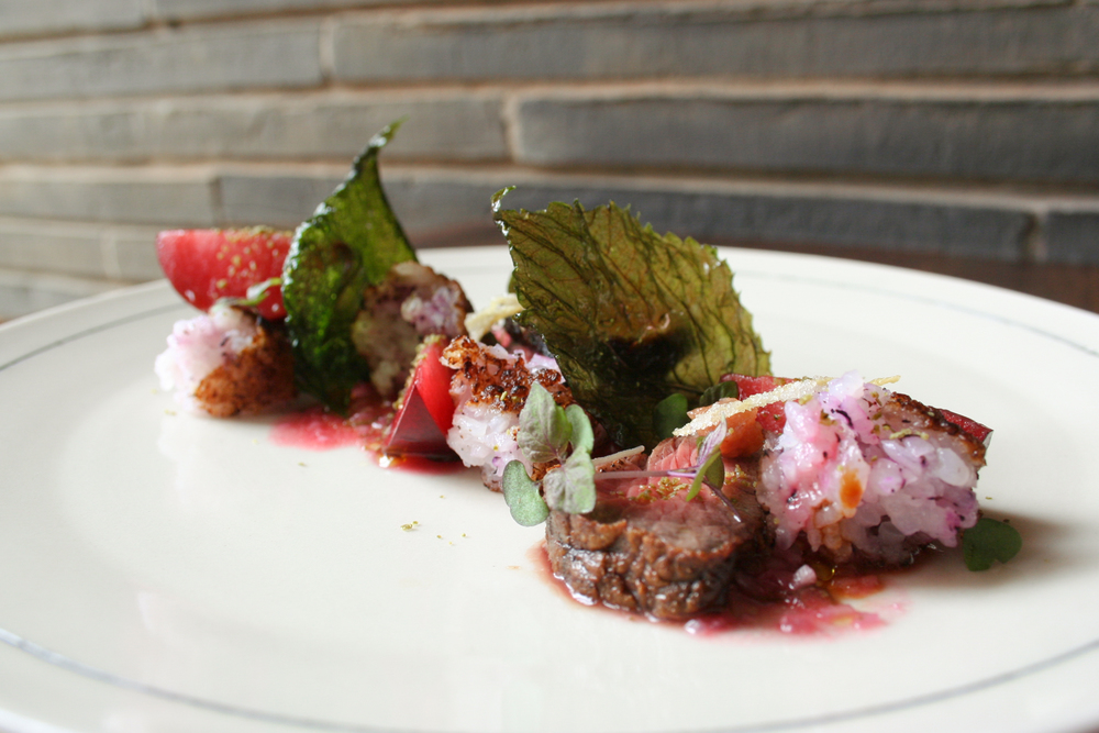 Special: Grass-Fed Beef Ribeye, Wild Plums, Onigiri & Thai Chili  | Foodable Network