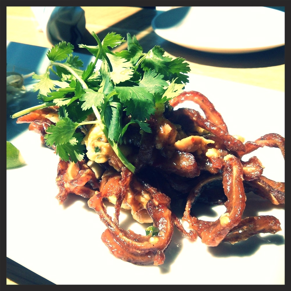 Pig Ear Pad Thai at Euclid Hall Bar & Kitchen  | Yelp, Emily C.