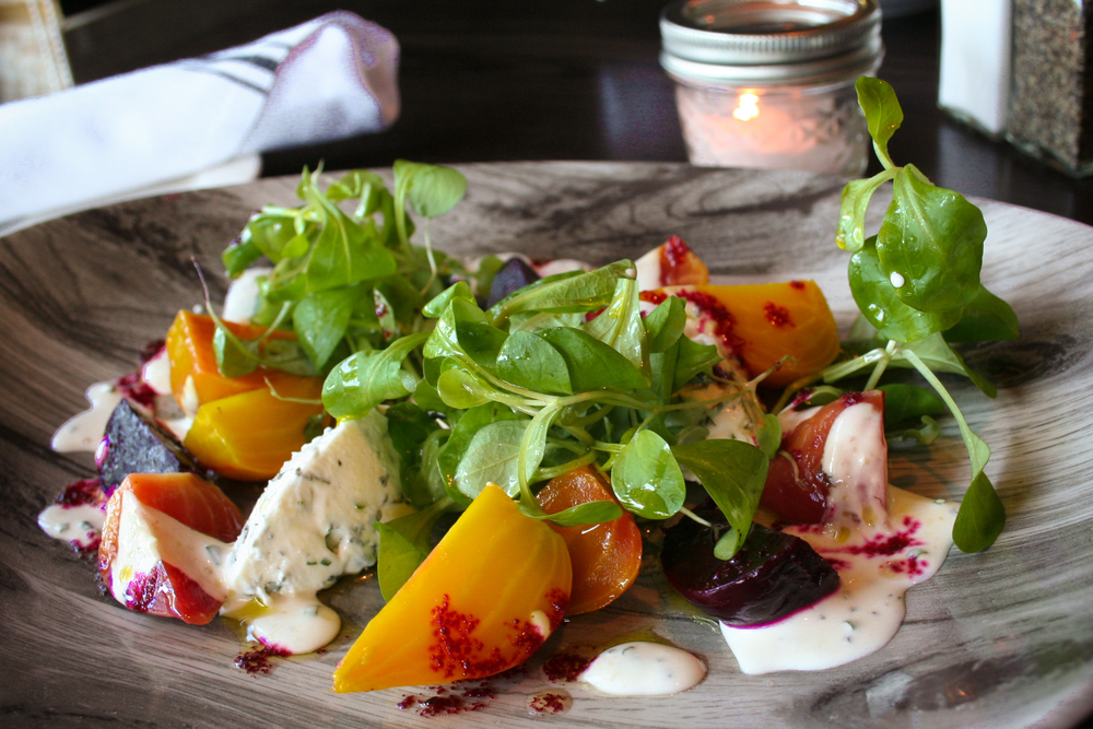 Local Goat Cheese Beet Salad at Hickory