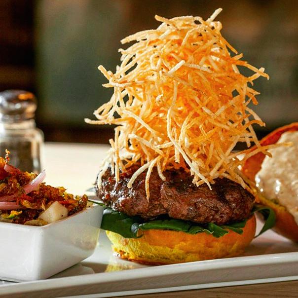 Shoestring Burger at Tavern on Jane  | Foodable WebTV Network