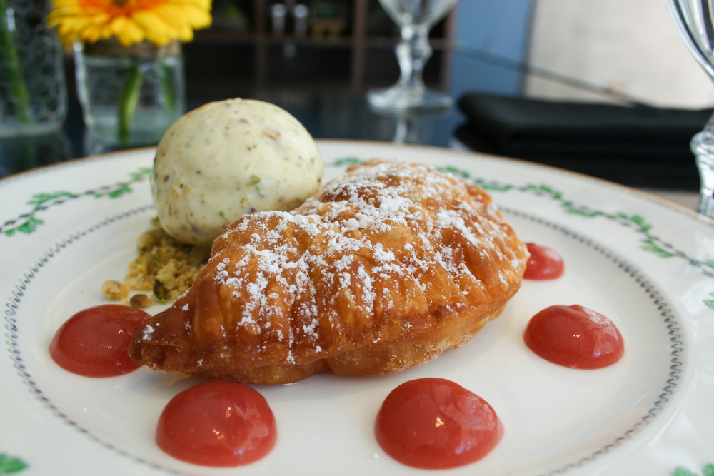 Peach & Rhubarb Fried Pie at Café Momentum
