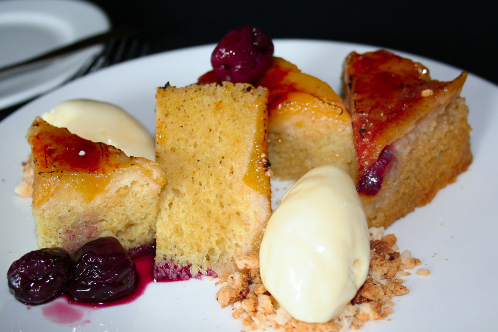 Peach Upside Down Cake at The Grape