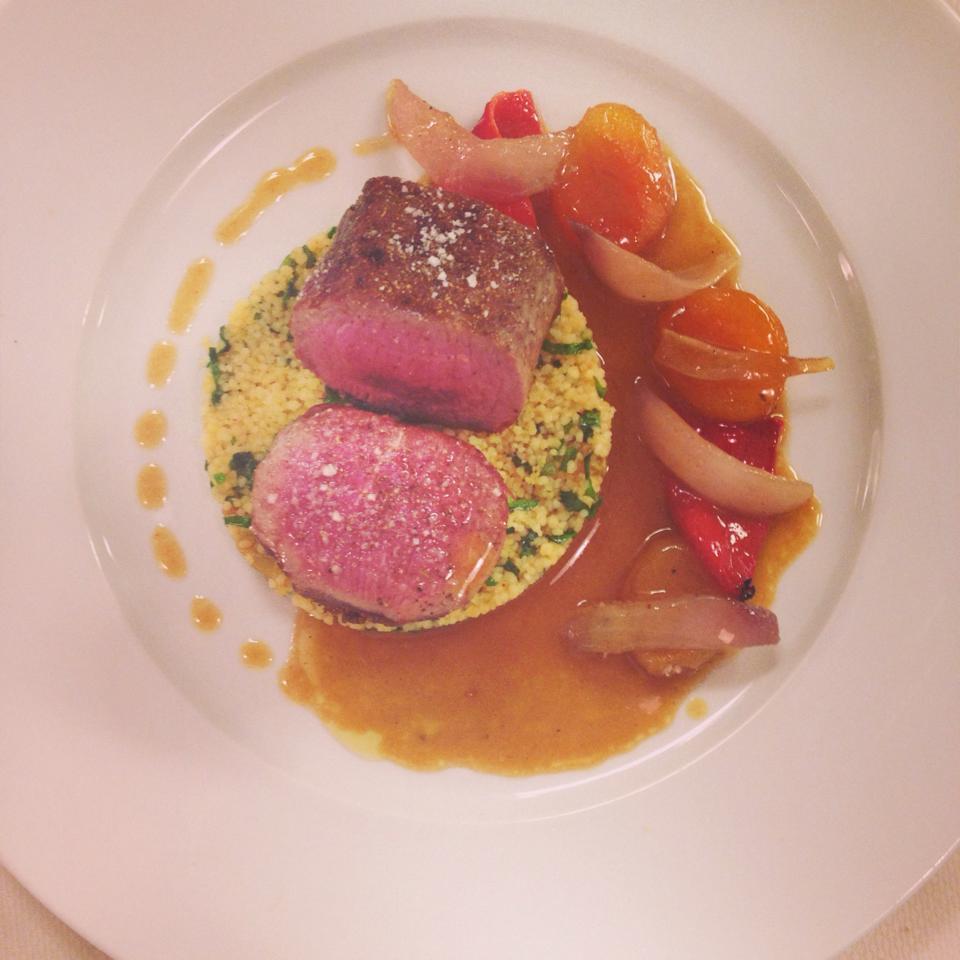 Lamb saddle couscous | Courtesy of Chef Sebastien Rondier