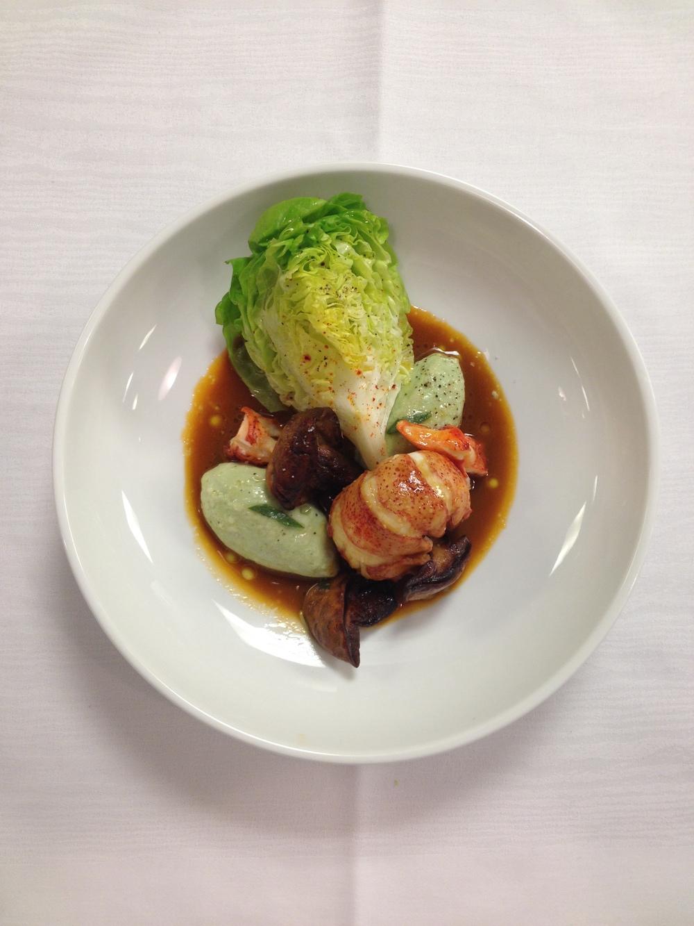 Lobster, ricotta gnocchi, porcini | Courtesy of Chef Sebastien Rondier