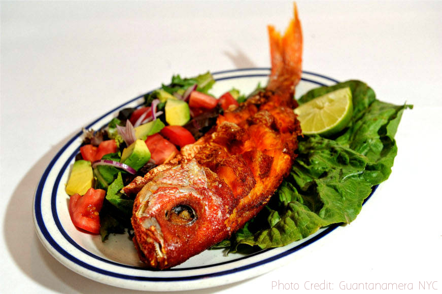Cuban fish dish at Guantanamera NYC | Credit: Guantanamera NYC