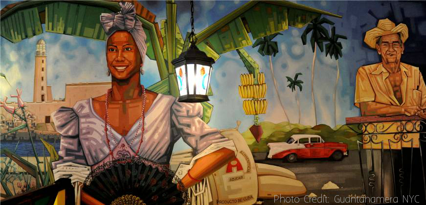 Mural art at Guantanamera NYC | Credit: Guantanamera NYC